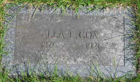 COX, ELLA L. - Dakota County, Nebraska | ELLA L. COX - Nebraska Gravestone Photos