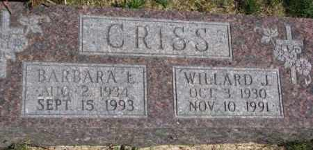 CRISS, BARBARA L. - Dakota County, Nebraska | BARBARA L. CRISS - Nebraska Gravestone Photos