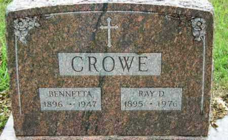 CROWE, RAY D. - Dakota County, Nebraska | RAY D. CROWE - Nebraska Gravestone Photos