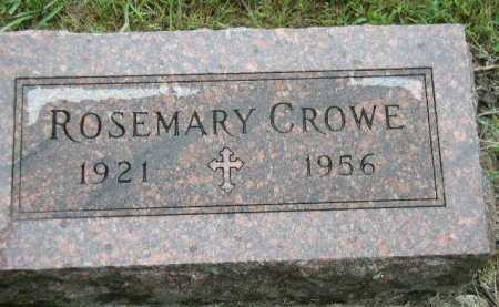 CROWE, ROSEMARY - Dakota County, Nebraska | ROSEMARY CROWE - Nebraska Gravestone Photos