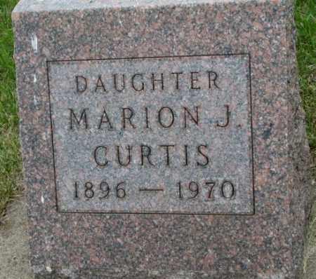 CURTIS, MARION J. - Dakota County, Nebraska   MARION J. CURTIS - Nebraska Gravestone Photos