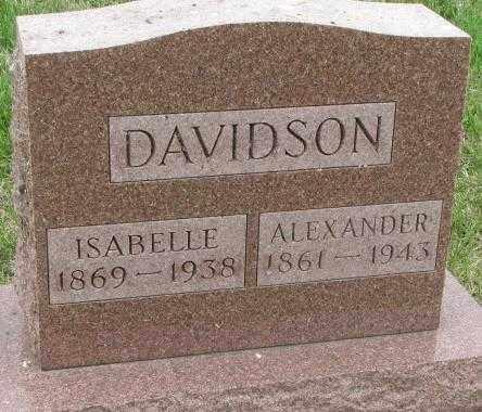 DAVIDSON, ISABELLE - Dakota County, Nebraska | ISABELLE DAVIDSON - Nebraska Gravestone Photos