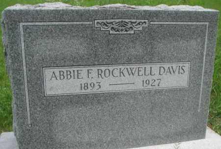 DAVIS, ABBIE F. - Dakota County, Nebraska | ABBIE F. DAVIS - Nebraska Gravestone Photos