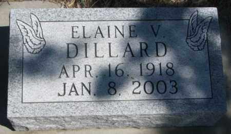 DILLARD, ELAINE V. - Dakota County, Nebraska | ELAINE V. DILLARD - Nebraska Gravestone Photos