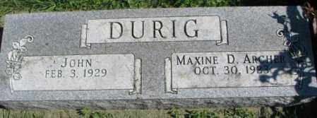 ARCHER DURIG, MAXINE D. - Dakota County, Nebraska | MAXINE D. ARCHER DURIG - Nebraska Gravestone Photos