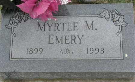 EMERY, MYRTLE M. - Dakota County, Nebraska | MYRTLE M. EMERY - Nebraska Gravestone Photos