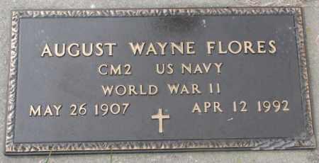 FLORES, AUGUST WAYNE - Dakota County, Nebraska   AUGUST WAYNE FLORES - Nebraska Gravestone Photos