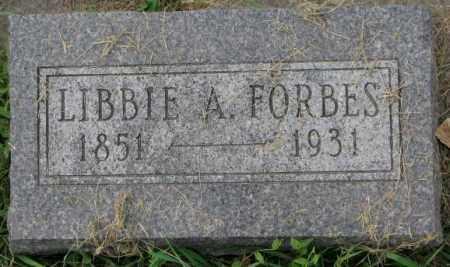 FORBES, LIBBIE A. - Dakota County, Nebraska   LIBBIE A. FORBES - Nebraska Gravestone Photos