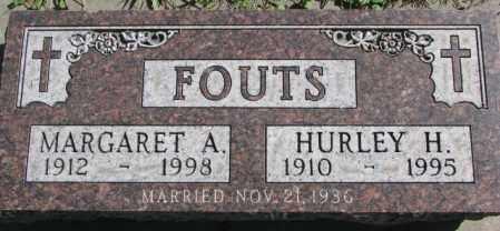 FOUTS, HURLEY H. - Dakota County, Nebraska   HURLEY H. FOUTS - Nebraska Gravestone Photos