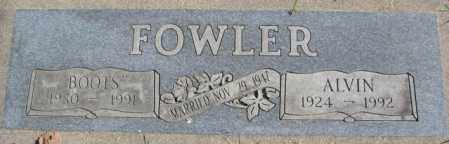 FOWLER, BOOTS - Dakota County, Nebraska | BOOTS FOWLER - Nebraska Gravestone Photos