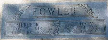 FOWLER, LETHA M. - Dakota County, Nebraska   LETHA M. FOWLER - Nebraska Gravestone Photos