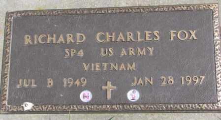 FOX, RICHARD CHARLES - Dakota County, Nebraska | RICHARD CHARLES FOX - Nebraska Gravestone Photos