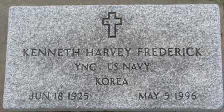 FREDERICK, KENNETH HARVEY - Dakota County, Nebraska | KENNETH HARVEY FREDERICK - Nebraska Gravestone Photos