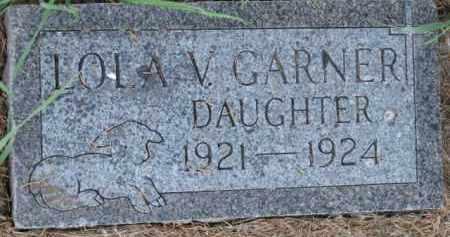 GARNER, LOLA V. - Dakota County, Nebraska   LOLA V. GARNER - Nebraska Gravestone Photos