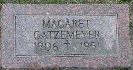 GATZEMEYER, MAGARET - Dakota County, Nebraska | MAGARET GATZEMEYER - Nebraska Gravestone Photos