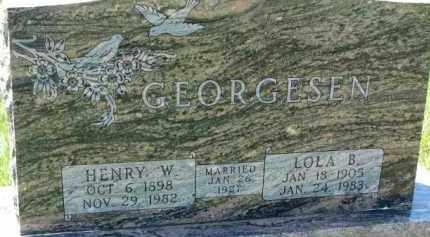 GEORGESEN, LOLA B. - Dakota County, Nebraska | LOLA B. GEORGESEN - Nebraska Gravestone Photos