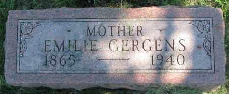 GERGENS, EMILIE - Dakota County, Nebraska | EMILIE GERGENS - Nebraska Gravestone Photos