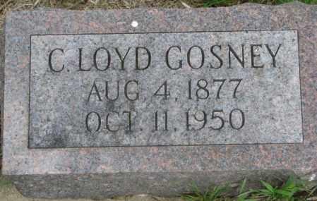 GOSNEY, C. LOYD - Dakota County, Nebraska   C. LOYD GOSNEY - Nebraska Gravestone Photos