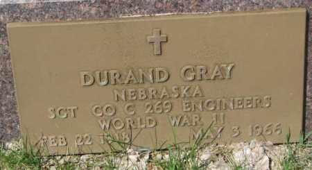 GRAY, DURAND - Dakota County, Nebraska   DURAND GRAY - Nebraska Gravestone Photos