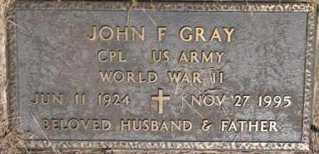 GRAY, JOHN F.  (WW II MARKER) - Dakota County, Nebraska | JOHN F.  (WW II MARKER) GRAY - Nebraska Gravestone Photos