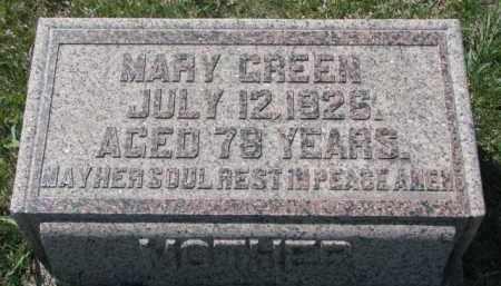 GREEN, MARY - Dakota County, Nebraska | MARY GREEN - Nebraska Gravestone Photos