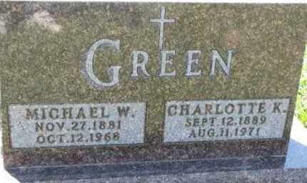 GREEN, MICHAEL W. - Dakota County, Nebraska | MICHAEL W. GREEN - Nebraska Gravestone Photos
