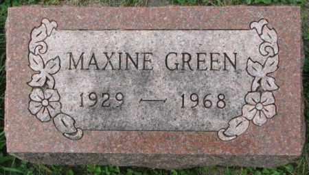 GREEN, MAXINE - Dakota County, Nebraska | MAXINE GREEN - Nebraska Gravestone Photos