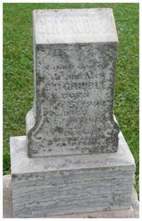 GRIBBLE, GERTRUDE M. - Dakota County, Nebraska   GERTRUDE M. GRIBBLE - Nebraska Gravestone Photos