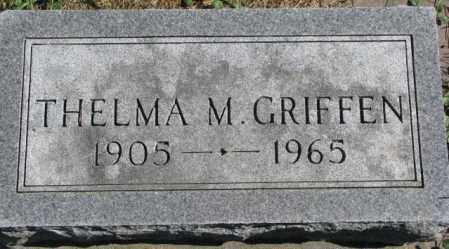 GRIFFEN, THELMA M. - Dakota County, Nebraska | THELMA M. GRIFFEN - Nebraska Gravestone Photos