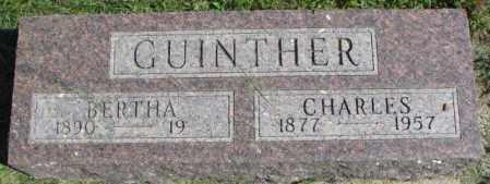 GUINTHER, CHARLES - Dakota County, Nebraska   CHARLES GUINTHER - Nebraska Gravestone Photos