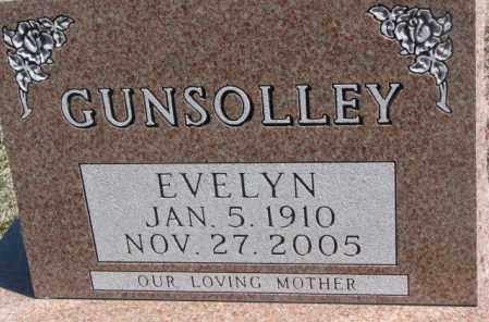 GUNSOLLEY, EVELYN - Dakota County, Nebraska   EVELYN GUNSOLLEY - Nebraska Gravestone Photos