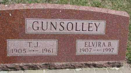 GUNSOLLEY, ELVIRA B. - Dakota County, Nebraska | ELVIRA B. GUNSOLLEY - Nebraska Gravestone Photos