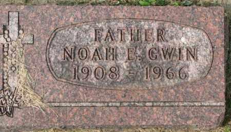 GWIN, NOAH E. - Dakota County, Nebraska | NOAH E. GWIN - Nebraska Gravestone Photos