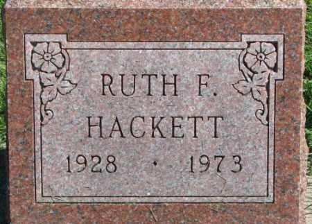 HACKETT, RUTH F. - Dakota County, Nebraska | RUTH F. HACKETT - Nebraska Gravestone Photos