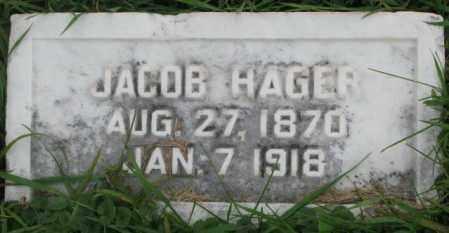 HAGER, JACOB - Dakota County, Nebraska | JACOB HAGER - Nebraska Gravestone Photos