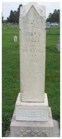 HAGER, JOHN C. - Dakota County, Nebraska   JOHN C. HAGER - Nebraska Gravestone Photos