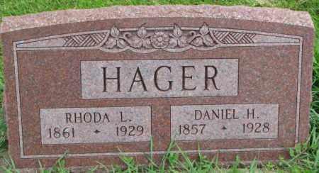 HAGER, RHODA L. - Dakota County, Nebraska | RHODA L. HAGER - Nebraska Gravestone Photos