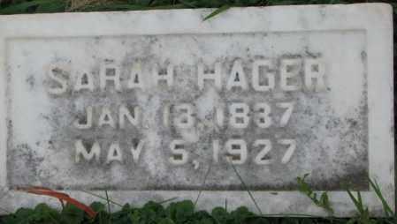 HAGER, SARAH - Dakota County, Nebraska | SARAH HAGER - Nebraska Gravestone Photos