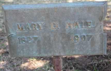 HALE, MARY D. - Dakota County, Nebraska | MARY D. HALE - Nebraska Gravestone Photos