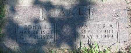 HALL, WALTER A. - Dakota County, Nebraska | WALTER A. HALL - Nebraska Gravestone Photos