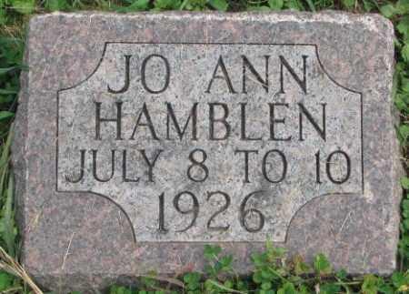 HAMBLEN, JO ANN - Dakota County, Nebraska | JO ANN HAMBLEN - Nebraska Gravestone Photos