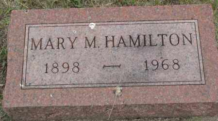 HAMILTON, MARY M. - Dakota County, Nebraska | MARY M. HAMILTON - Nebraska Gravestone Photos