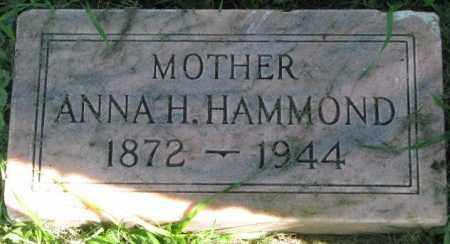 HAMMOND, ANNA H. - Dakota County, Nebraska   ANNA H. HAMMOND - Nebraska Gravestone Photos