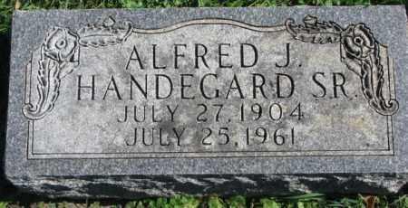 HANDEGARD, ALFRED J. SR. - Dakota County, Nebraska | ALFRED J. SR. HANDEGARD - Nebraska Gravestone Photos