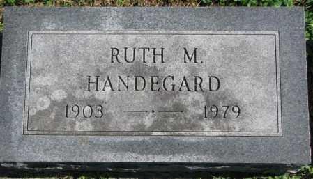 HANDEGARD, RUTH M. - Dakota County, Nebraska | RUTH M. HANDEGARD - Nebraska Gravestone Photos