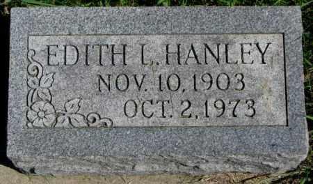 HANLEY, EDITH L. - Dakota County, Nebraska | EDITH L. HANLEY - Nebraska Gravestone Photos