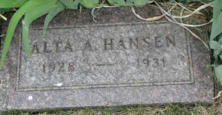 HANSEN, ALTA A. - Dakota County, Nebraska | ALTA A. HANSEN - Nebraska Gravestone Photos