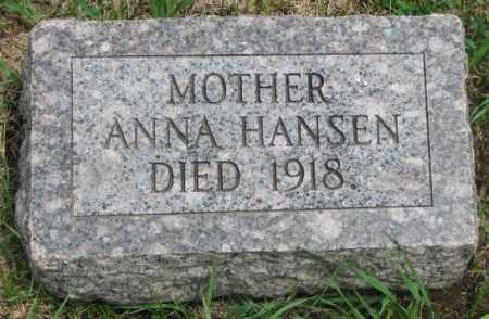HANSEN, ANNA - Dakota County, Nebraska | ANNA HANSEN - Nebraska Gravestone Photos