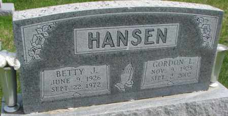 HANSEN, BETTY J. - Dakota County, Nebraska | BETTY J. HANSEN - Nebraska Gravestone Photos