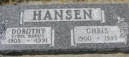 HANSEN, CHRIS - Dakota County, Nebraska | CHRIS HANSEN - Nebraska Gravestone Photos